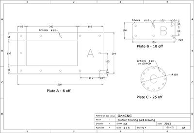 CAD / CAM Profiler Software OneCNC